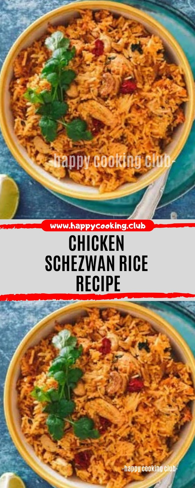 Chicken Schezwan Rice Recipe