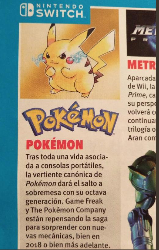Revista de Nintendo confirmaría que la octava generación llegará al Pokémon de Switch