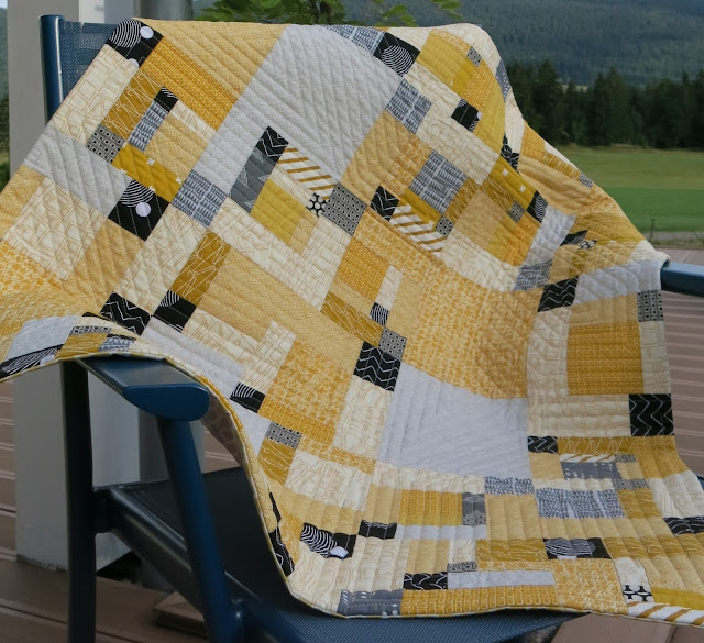 Finished quilt - Cut up nine patch block