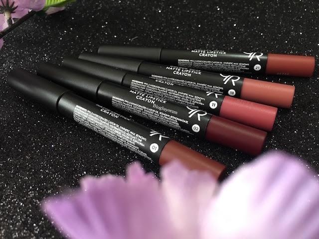 golden rose matte lipstick crayon kalem rujlar 01-02-11-18-21