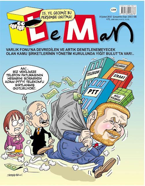 Leman Dergisi | 8 Şubat 2017 Kapak Karikatürü