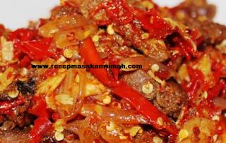 Resep Dendeng Daging Balado enak lezat dan sederhana