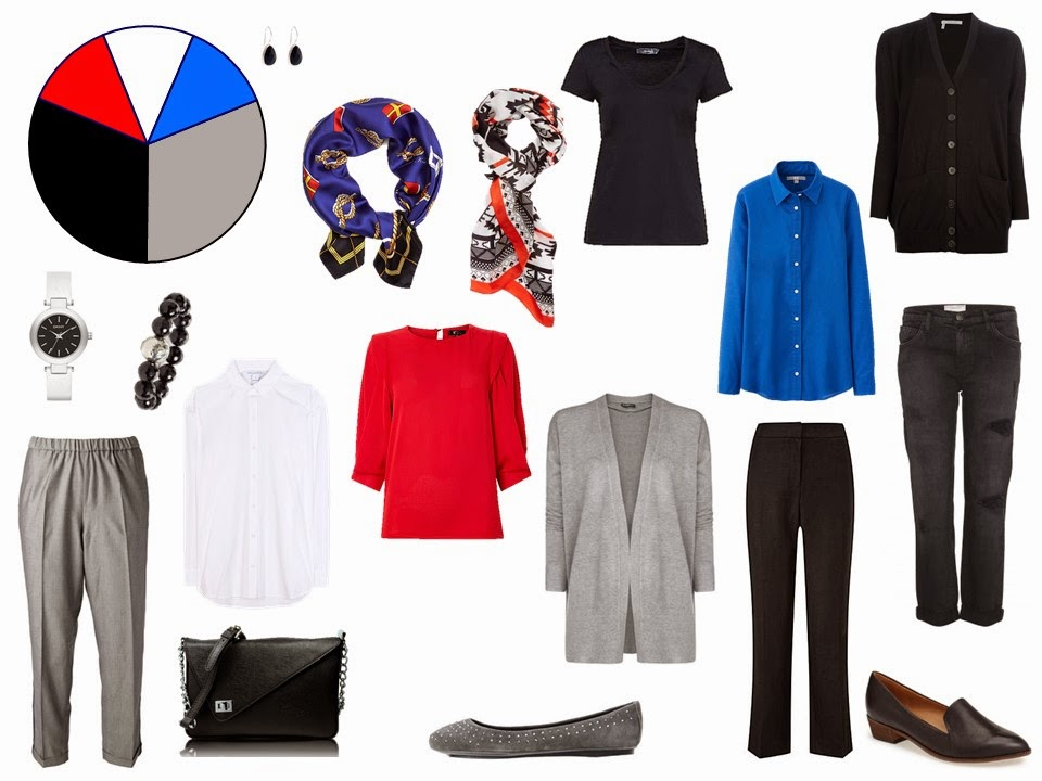black and grey travel capsule wardrobe