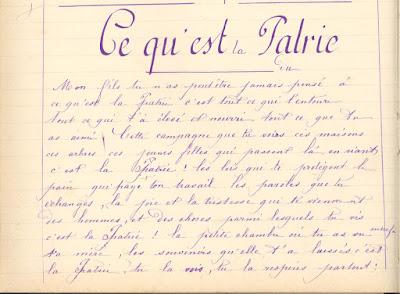 Leçon de morale, cahier de devoirs journaliers, 1891 (collection musée)