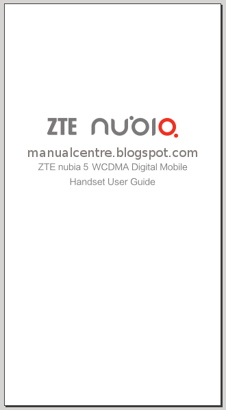 ZTE Nubia 5 Manual Cover