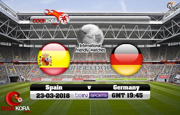 مشاهدة مباراة ألمانيا وأسبانيا اليوم 23-3-2018 مباراة ودية