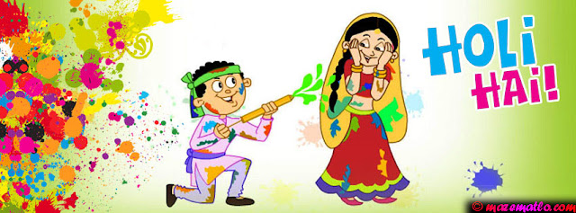 Happy Holi Images for Facebook Timeline Cover