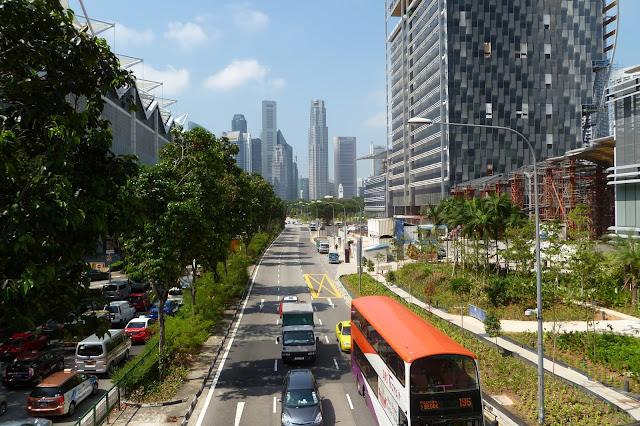 Widok na dzielnicę biznesową w Singapurze