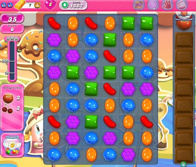 Candy Crush Saga 1557
