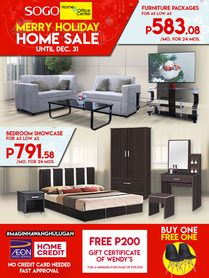 Manila Shopper Sogo Merry Holiday Home Sale Til Dec 2017
