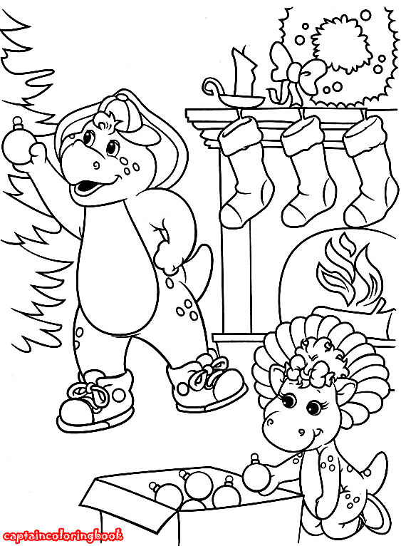 Barney and Friends coloring book /Barney und Freunde Malvorlagen ...