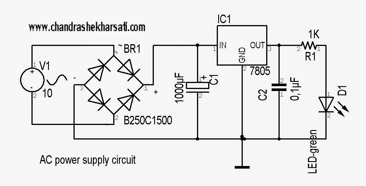 Simple Power Supply Circuit Diagram With Explanation : 52