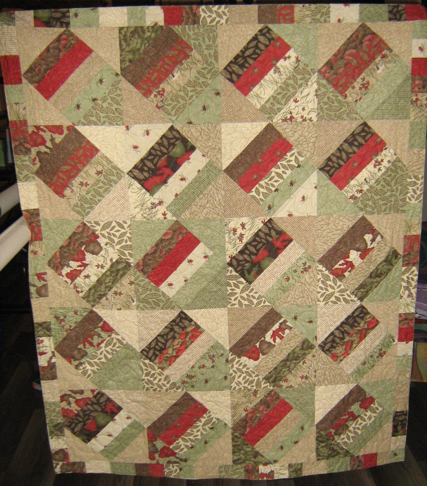 Inch By Inch Quilting Rail Fence And Braid Quilt