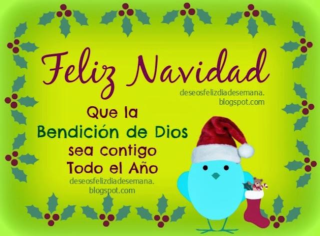 Feliz Navidad en Bendición, bendiciones en el año nuevo. Imágenes lindas de navidad y próspero año, feliz navidad en tarjeta cristiana para amiga, amigo, niña, niño, hijo, hija. Postales cristianas.