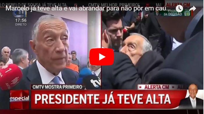 Presidente de Portugal se desmayó en vivo y 3 horas más tarde ya estaba trabajando