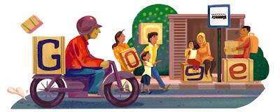 Google Doodle Rayakan Musim Mudik 2016