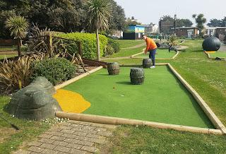 Buccaneer Bay Adventure Golf course at Norfolk Gardens in Littlehampton