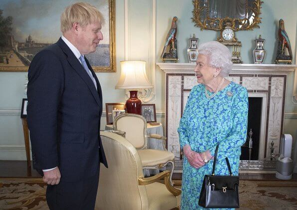 Queen Elizabeth II met with, new prime minister Boris Johnson. Meghan Markle, Kate Middleton