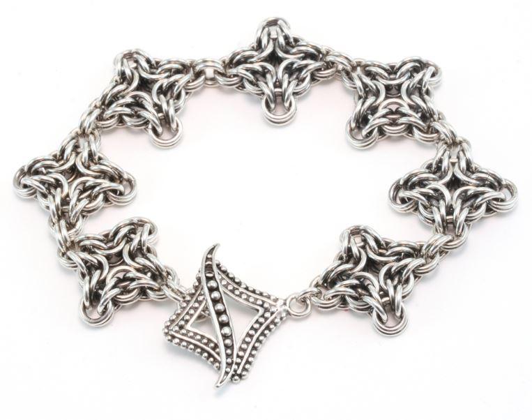 Chainmail Bracelet Byzantine Weave