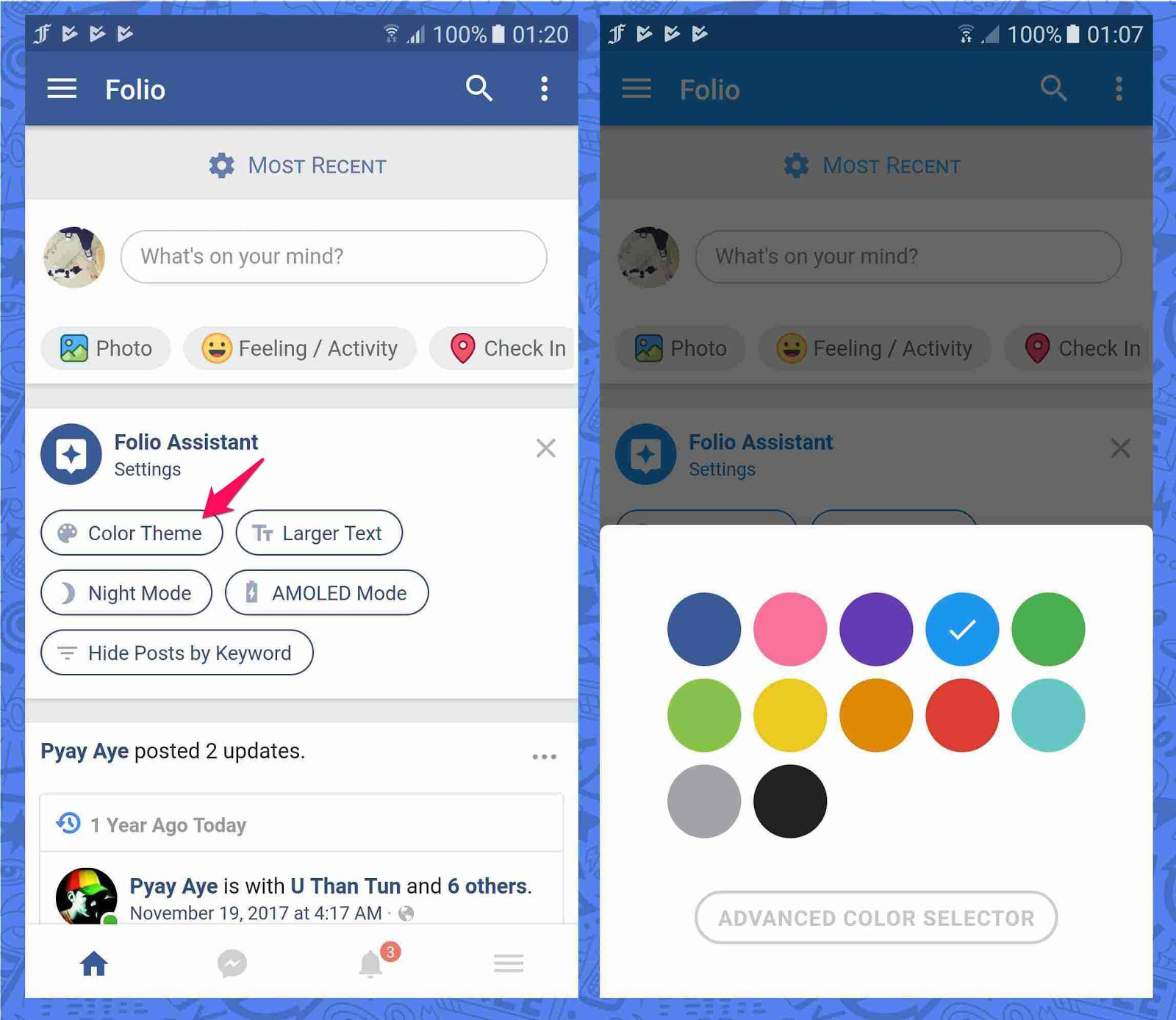 Android apps to change the appearance of Facebook and customize it