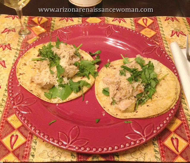 Pork Loin and Apple Tacos with Fresh Greens and Smoked Provolone (3)