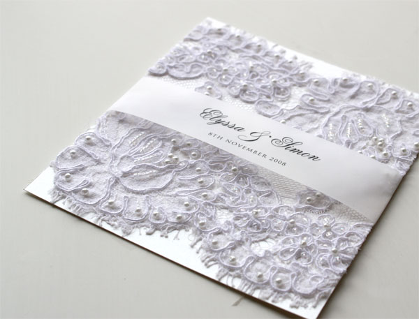 Wedding Invitation With Lace: Classic Wedding Invitations: Lace Wedding Invitations
