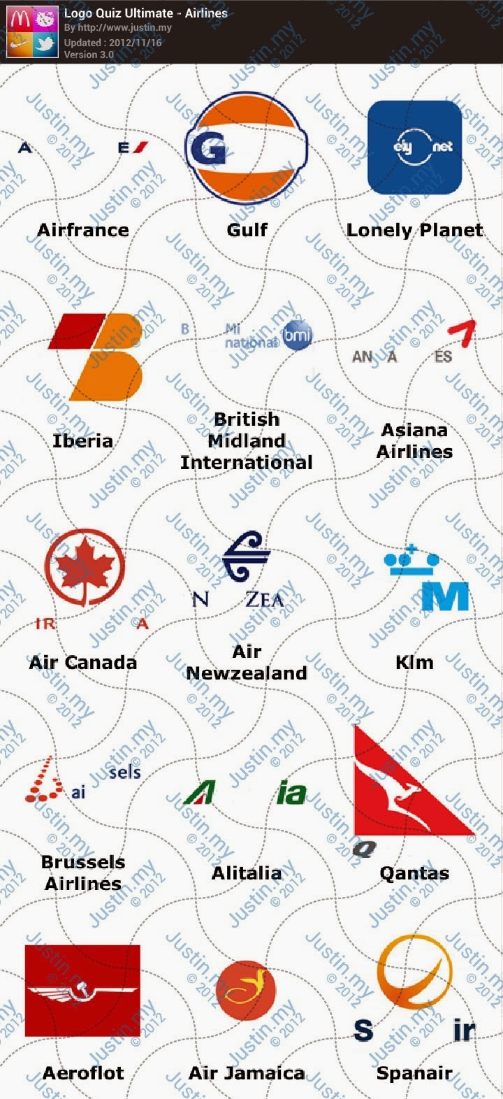 Airlines - Ultimate Logo Quiz Answers