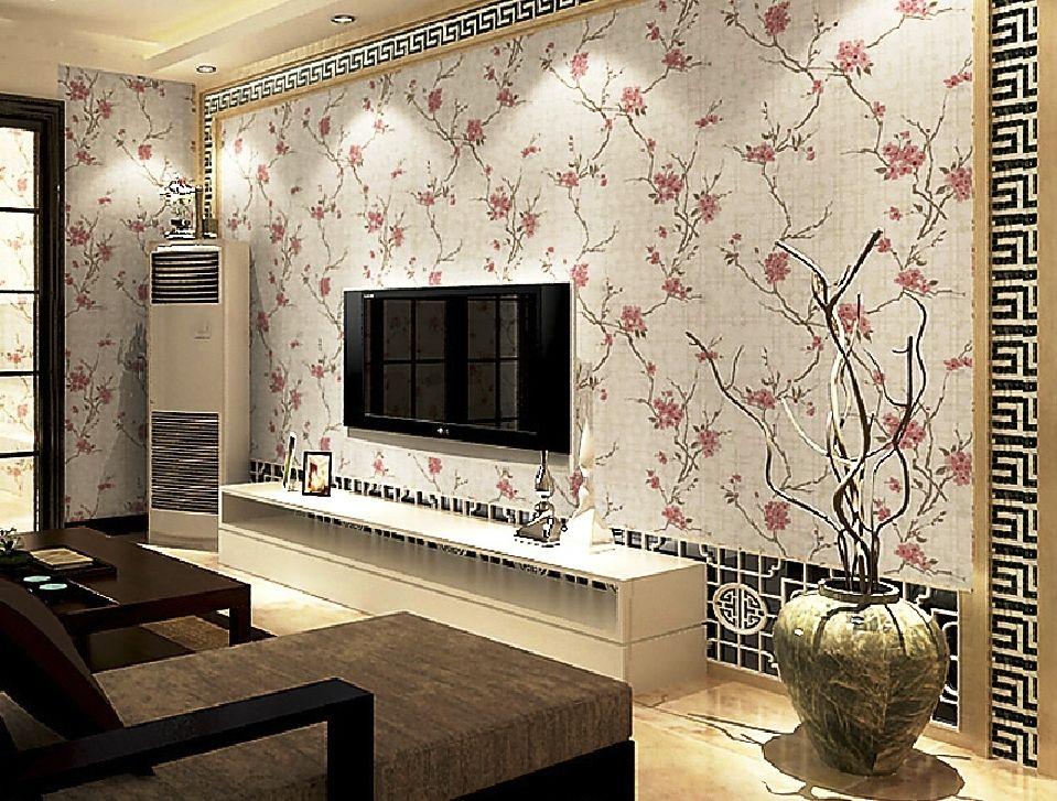 20 contoh desain wallpaper dinding ruang tamu minimalis