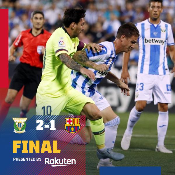 خسارة مفاجأة لبرشلونة أمام ليغانيس  2-1 الدورى الاسبانى,