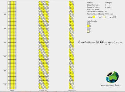 żółta bransoletka