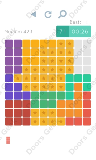 Cheats, Walkthrough for Blocks and Shapes Medium Level 423