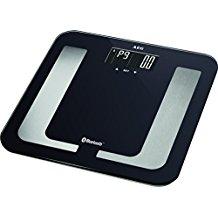 AEG PW 5653 BT - Báscula de análisis de 8 funciones, Bluetooth compatible con Android e iOS, color negro y plata