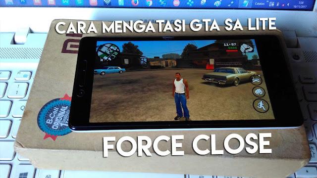 Cara ini bisa kamu lakukan jika GTA SA Lite keluar sendiri saat di tekan mode Offline.