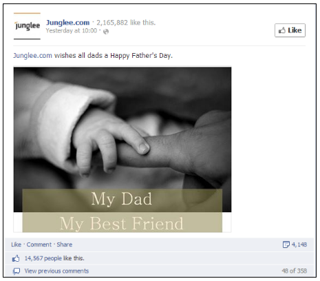 Happy Fathers Day Facebook Post