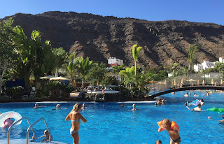 Hotel swimming pool in Gran Canaria