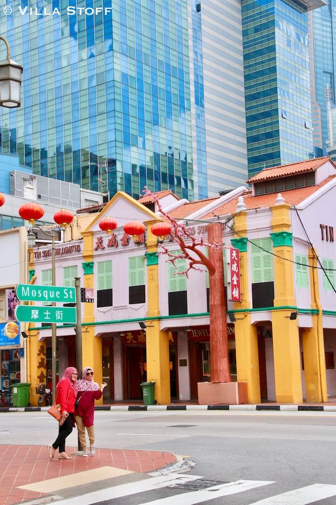 Singapur | buntes Chinatown vs. moderne Hochhäuser