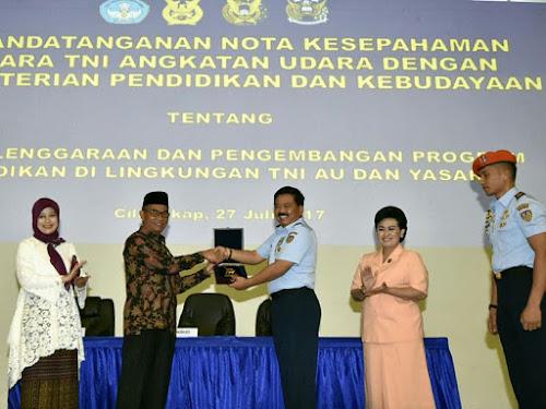 Kerja sama Kemendikbud dan TNI AU