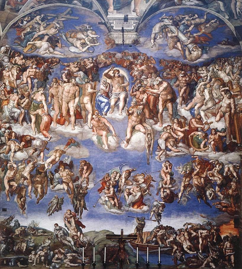 O Último Julgamento - Michelangelo Buonarroti e suas pinturas (Renascimento) Italiano