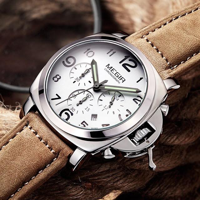 Megir Classic Design Cow Leather Watch