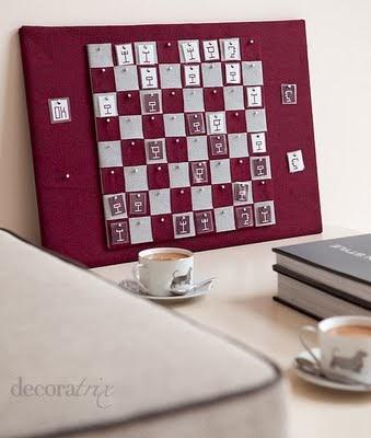 Como hacer un tablero de ajedrez de pared tutorial for Como hacer un perchero de pared