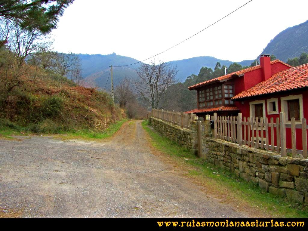 Ruta Montaña Pienzu: Llegando al cruce con la carretera