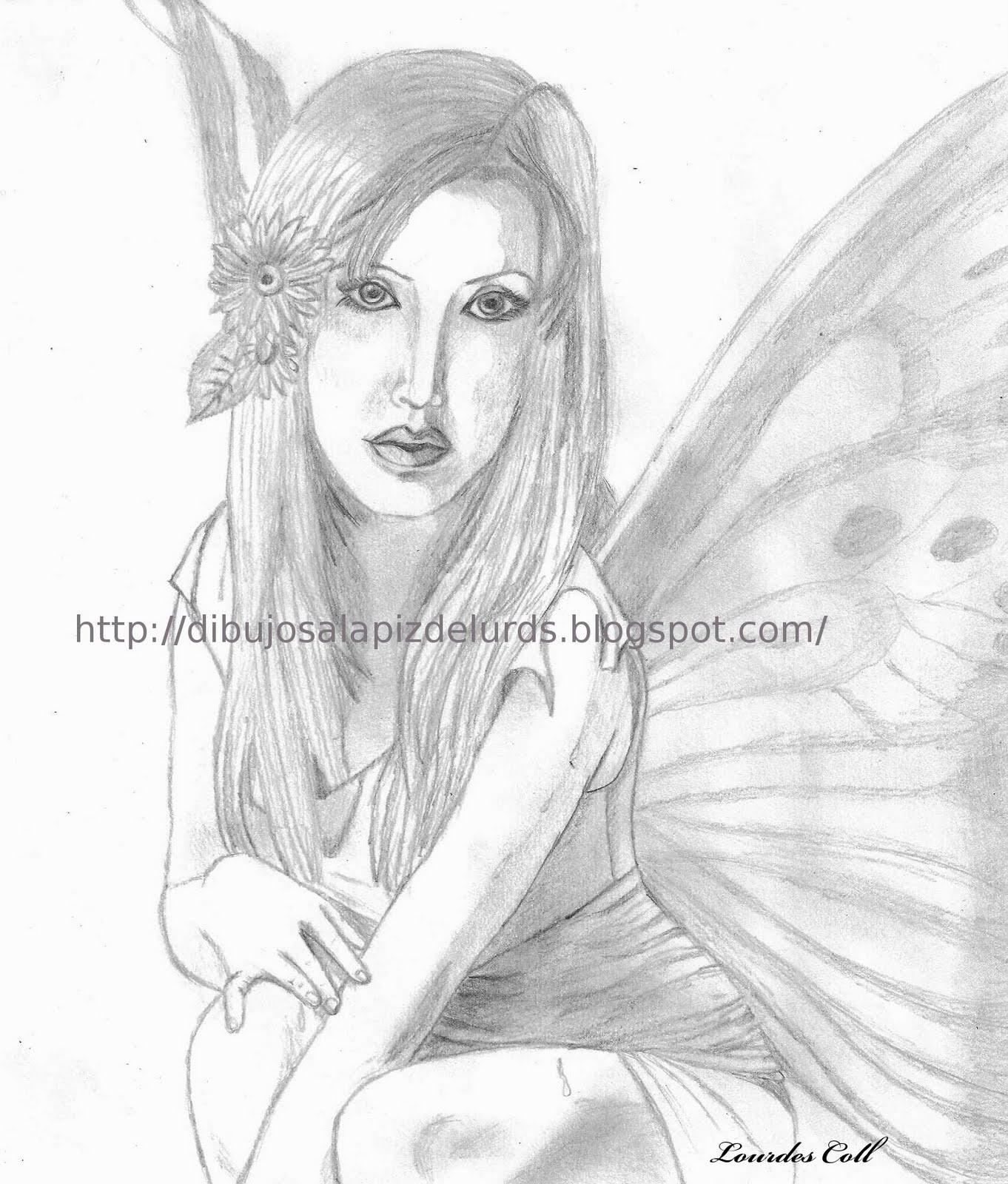 Mis dibujos a lpiz Hada de Primavera