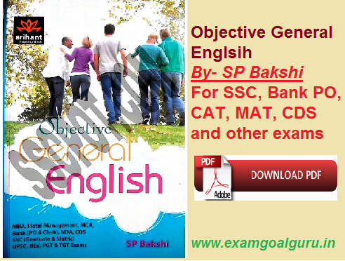 Objective General English By SP Bakshi PDF eBook Free Download