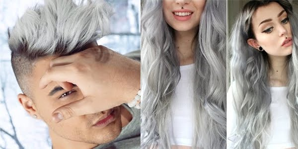 Women and men with gray hair