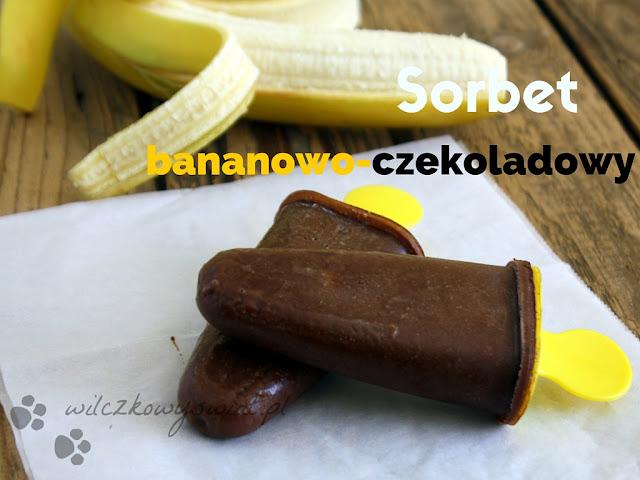 Sorbet bananowo - czekoladowy