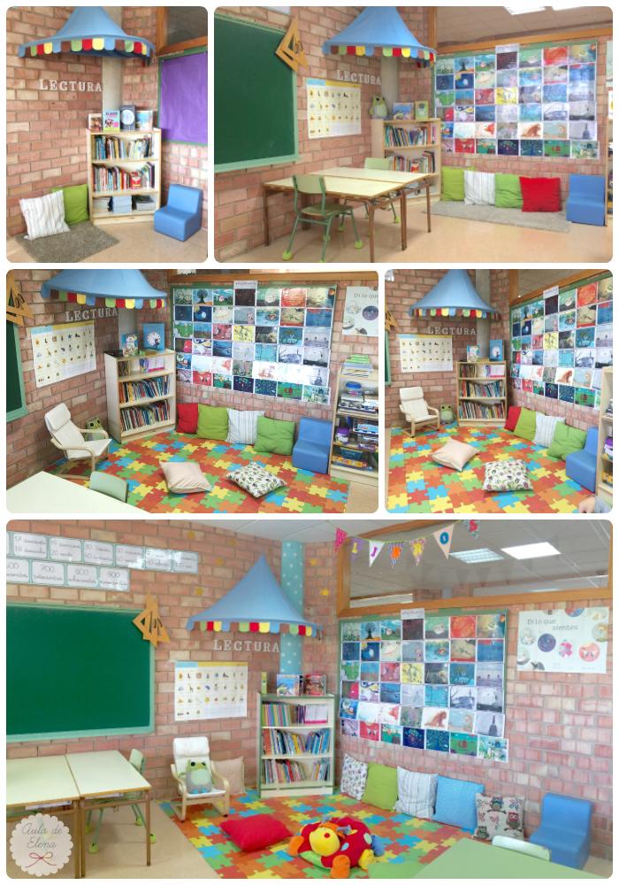 Columnas decoradas aula acabada aula de elena for Rincon lectura