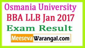 Osmania University BBA LLB Jan 2017 Exam Results