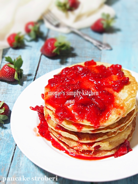 resep strawberry buttermilk pancake