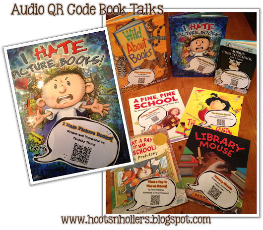 Working on it Wednesday: QR Code Booktalks, Clipart, & Take-Home Book Bags