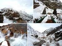 Сиама зимой, ущелье Варзоб, горы Таджикистана